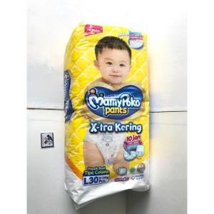Harga pamper popok bayi balita mamypoko mamy poko pants l 30 xtra kering   HARGALOKA.COM