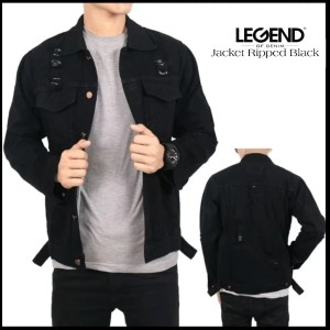 Harga jaket ripped jeans lod jaket jeans pria     HARGALOKA.COM