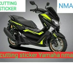 Harga sticker cutting nmax warna kuning stabilo striping | HARGALOKA.COM