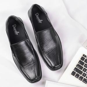 Harga sepatu pantofel pria sepatu kulit sapi asli sol karet tpr slip on   hitam | HARGALOKA.COM