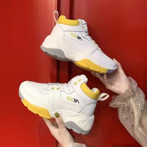 Harga sepatu sneakers wanita rainbow sepatu olahraga perempuan korea sp 105   putih | HARGALOKA.COM