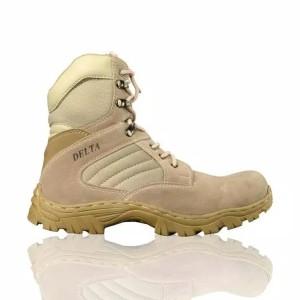 Harga murah sepatu boots pria tentara polisi travelling gunung kokoh laris   hitam | HARGALOKA.COM