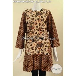 Harga blouse batik wanita gemuk 2 motif model tanpa krah size xxl | HARGALOKA.COM