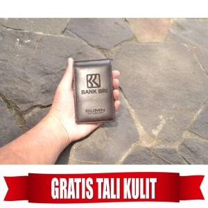 Harga name tag id card holder kulit asli logo bri gratis tali lanyard   HARGALOKA.COM
