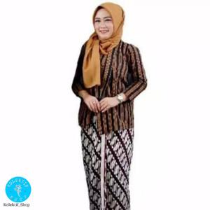 Harga setelan baju surjan kebaya lurik dewasa kain jarik perempuan | HARGALOKA.COM