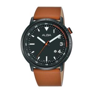 Harga jam tangan pria alba original ag8j99 strap brown leather black | HARGALOKA.COM