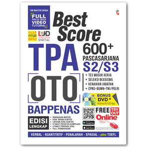 Harga buku best score 600 tpa oto bappenas pasca sarjana s2 s3 bonus | HARGALOKA.COM