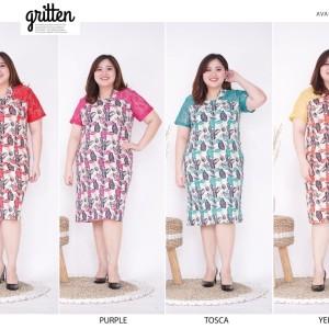 Harga dress batik brokat super jumbo lebaran 554 brp   | HARGALOKA.COM