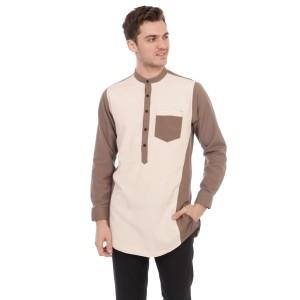 Harga baju koko pria kurta pakistan gamis two tone pastel kombi coksu     HARGALOKA.COM