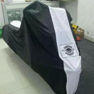 Harga cover selimut sarung body motor harley davidson softail   merah | HARGALOKA.COM