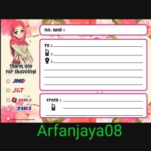 Harga stiker pengiriman alamat paket online shop | HARGALOKA.COM