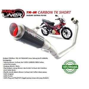 Harga knalpot racing satria fu150 fu 150 proliner tr 1r short carbon tk | HARGALOKA.COM