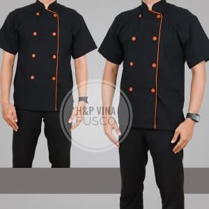 Harga baju koki baju chef atasan   hitam | HARGALOKA.COM
