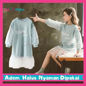Harga baju pakaian fashion gaun dress anak perempuan cewek import murah dt5   size 160 | HARGALOKA.COM