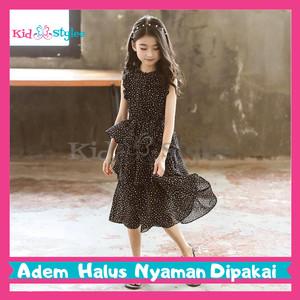 Harga baju fashion dress gaun pesta anak perempuan cewek import murah   putih size | HARGALOKA.COM