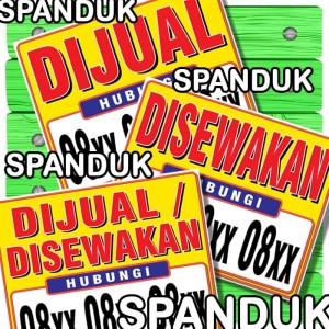 Harga spanduk banner rumah ruko toko dijual disewakan 100x80 cm | HARGALOKA.COM
