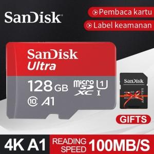 Harga sandisk 128gb kartu memori 100mb s ultra microsd sd with adapter | HARGALOKA.COM