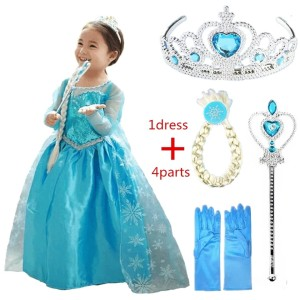 Harga baju dress kostum elsa frozen blue   | HARGALOKA.COM