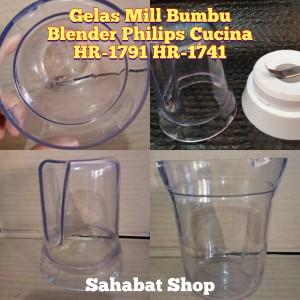 Harga gelas mill bumbu blender philips cucina hr 1791 | HARGALOKA.COM
