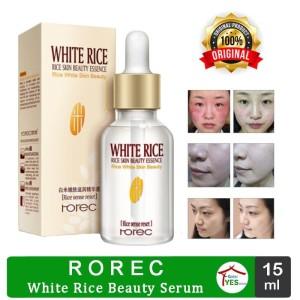Harga rorec white rice skin beauty serum 15ml pelembab wajah anti | HARGALOKA.COM