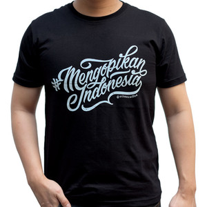 Harga otten tees 01 mengopikan indonesia   hitam | HARGALOKA.COM