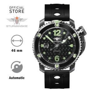 Harga sturmanskie stingray nh35 1825893 jam tangan diving steel hitam | HARGALOKA.COM