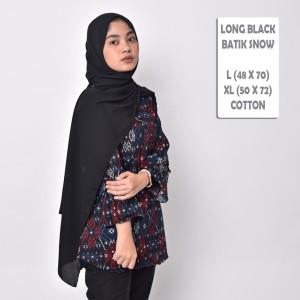 Harga batik songket cewek blouse batik wanita modern premium   black | HARGALOKA.COM