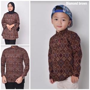 Harga waryulion baju batik couple keluarga ibu ayah dan anak diamond | HARGALOKA.COM