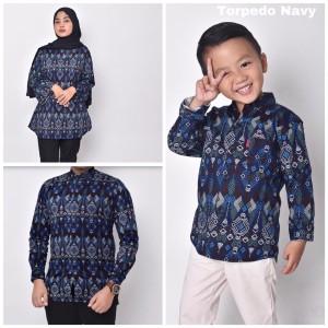 Harga waryulion baju batik couple ibu ayah anak torpedo | HARGALOKA.COM