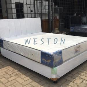 Harga spring bed full set ukuran 160 x 200 1set free   HARGALOKA.COM