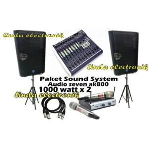 Harga promo paket sound system 1000watt audio seven ak800 dan ashley   HARGALOKA.COM