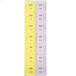 Harga pill box 14 holes kotak pill kotak   HARGALOKA.COM