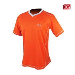 Harga hi qua outline kaos dryfit badminton olahraga 2 tone color original   orange | HARGALOKA.COM
