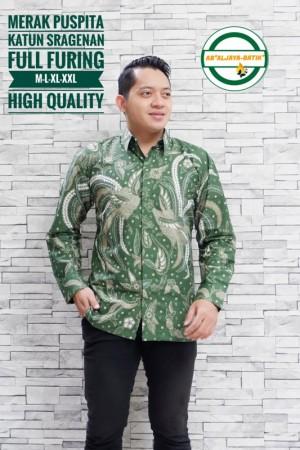 Harga merak puspita kemeja batik pria panjang full furing by   HARGALOKA.COM