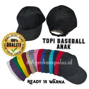 Harga topi baseball anak polos balita tk murah grosir satuan grosir partai   | HARGALOKA.COM