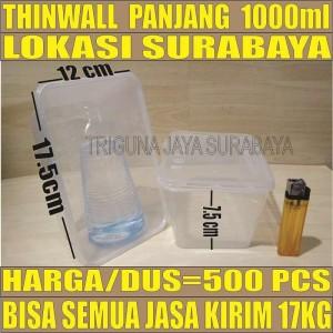 Harga thinwall 1000ml kotak 500pcs dus kotak makan box nasi plastik | HARGALOKA.COM