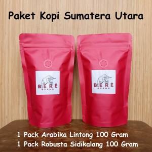 Harga paket kopi sumatera utara 100 gram bubuk biji coffee bean beans   biji | HARGALOKA.COM
