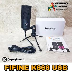 Harga fifine k669b k669 b mic condensor usb gamers youtuber | HARGALOKA.COM
