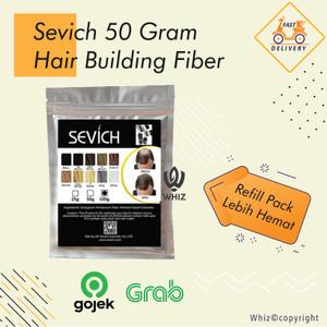 Harga sevich hair fiber 50gr kirim via gojek grab   refill isi ulang | HARGALOKA.COM