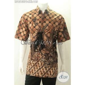 Harga baju batik lengan pendek spesial pria gemuk modis size xxl   HARGALOKA.COM