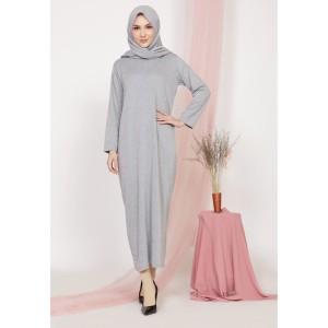 Harga mybamus adhara basic dress light gray m15463 | HARGALOKA.COM