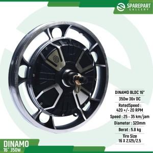 Harga dinamo bldc 16inch 36v350w ring 16 34 sepeda listrik motor | HARGALOKA.COM
