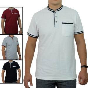 Harga kaos kerah korea pria premium baju kerah shanghai lacoste cvc   hitam | HARGALOKA.COM
