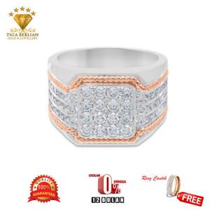 Harga cincin cowok berlian asli cbe016   HARGALOKA.COM