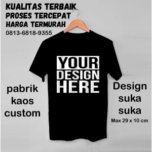 Harga custom kaos termurah tercepat   biru muda | HARGALOKA.COM