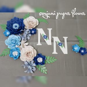 harga dekorasi lamaran paper flower murah terbaru 2021