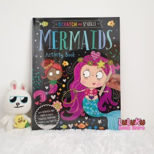 Harga buku aktivitas anak import scratch and sparkle mermaids activity | HARGALOKA.COM