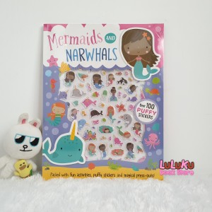 Harga buku import anak mermaids and narwhals puffy stickers activity | HARGALOKA.COM
