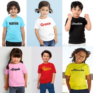 Harga kaos anak bayi balita sablon nama sendiri custom nama baju | HARGALOKA.COM