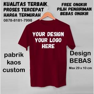 Harga custom kaos custom baju polyflex tulisan kata kata   putih | HARGALOKA.COM